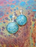 Mini Abstract Painting Earrings