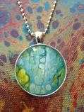 Mini Abstract Painting Pendant